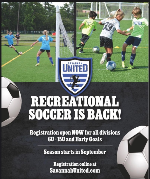 recreational soccer savannah fall 2020 chatham county wilmington Island
