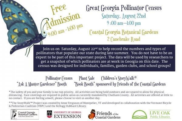 Free admission Georgia Botanical Gardens Coastal Savannah