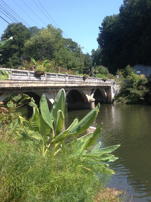 Lake Lure NC Flowering Bridge Asheville
