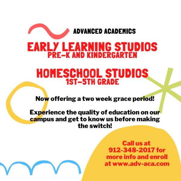 Advanced Academics Homeschool Pooler Savannah homeschooling Chatham County
