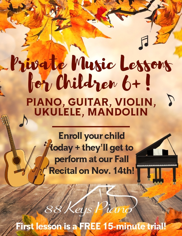 private music lessons Savannah Pooler youth children piano guitar violin mandolin