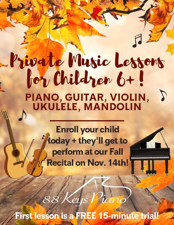 private music lessons Savannah Pooler youth children piano guitar violin mandolin