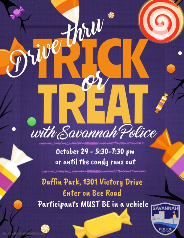 Savannah police trick or treat Halloween free