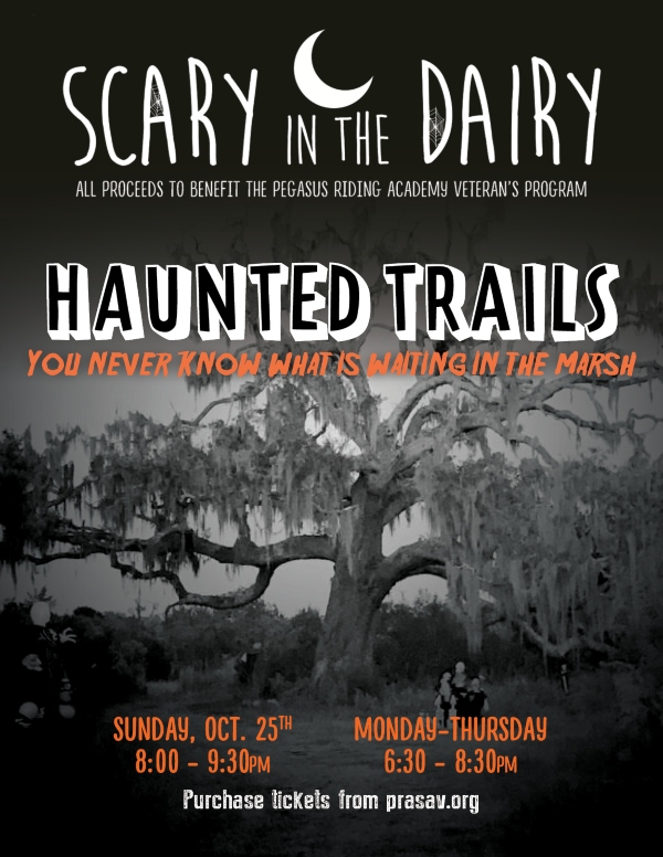 Haunted Trails Scary Dairy Pegasus Riding Savannah