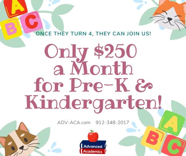 PreK Kindergarten Advanced Academics microschool Pooler