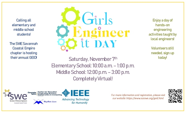 Girls Engineer It Day 2020 Savannah Chatham County virtual