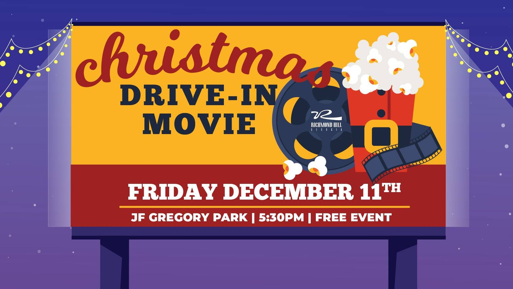 Christmas Drive-In Movie Richmond Hill 2020 Holidays