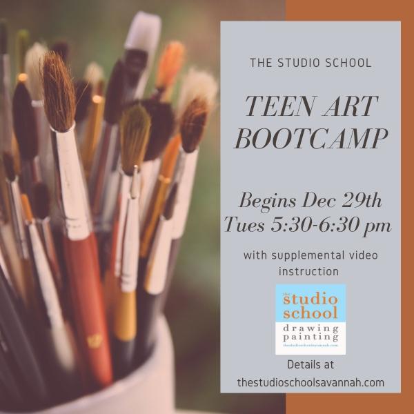 teen art bootcamp holiday camps christmas break savannah chatham county studio school