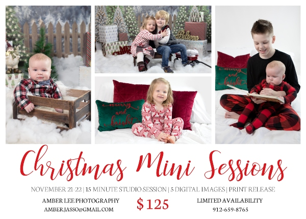 Savannah photographers Christmas mini sessions photos professional Chatham County Pooler