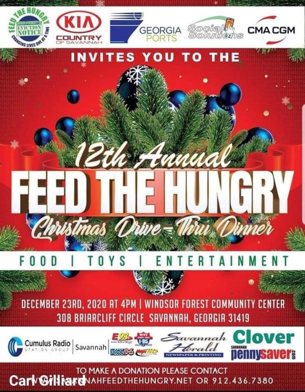Feed the hungry Christmas Drive Savannah 2020