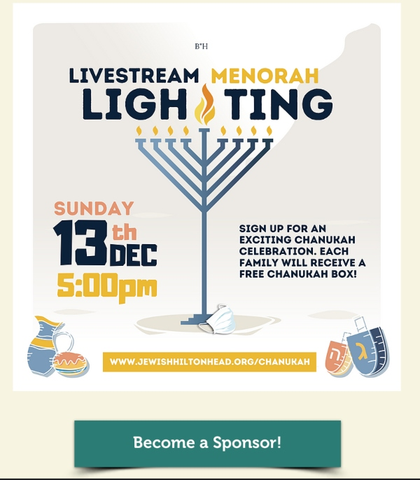 Hilton Head Island menorah parade lighting 2020