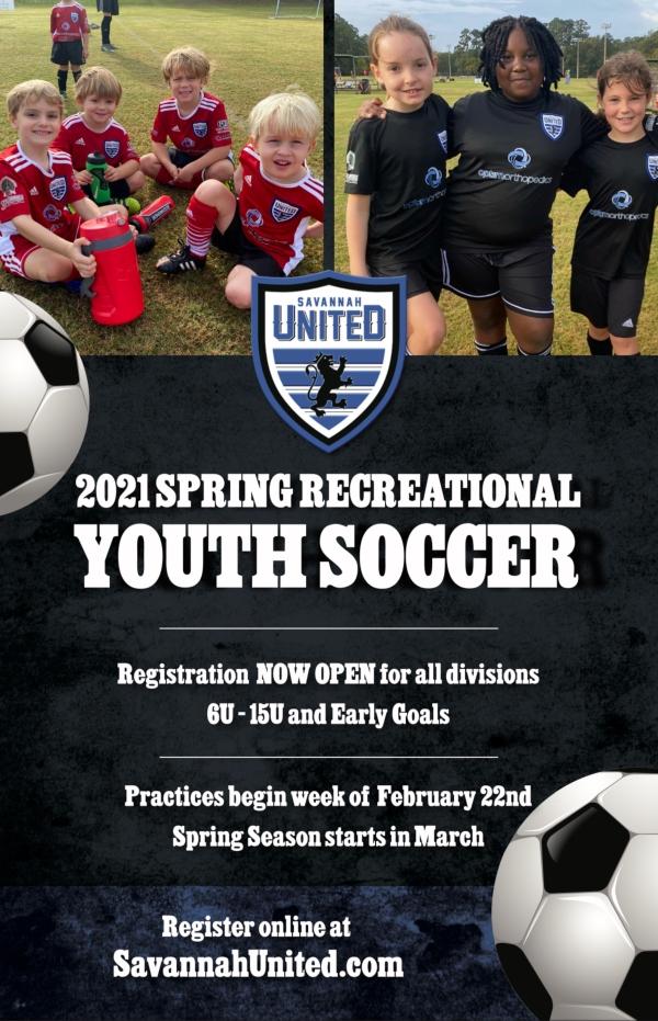 Spring Youth Soccer Recreational Savannah United 2021