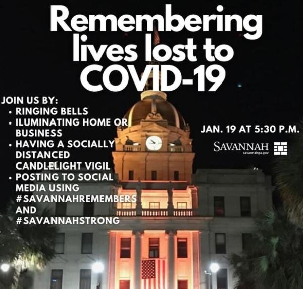 Savannah memorial COVID-19