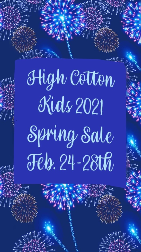 High Cotton Kids Spring 2021 consignment sale 2021 Savannah