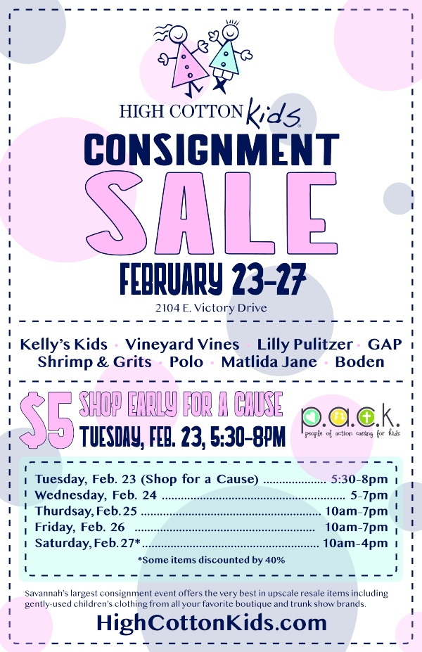 high cotton kids savannah consignment sale