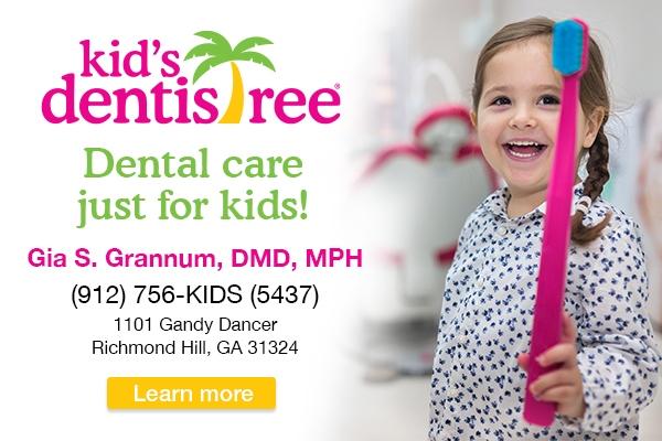 Kid's Dentistree dentist Richmond Hill pediatric children Savannah Chatham County