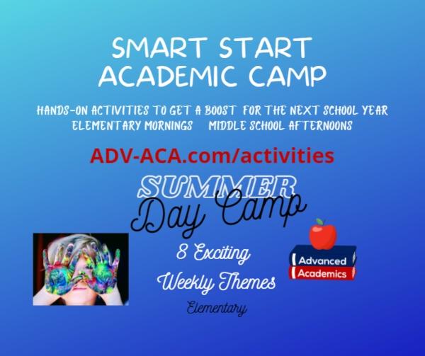 Advanced Academics Smart Start Academic Camp Summer Camp 2021