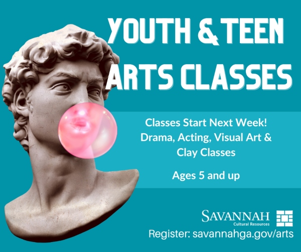 youth teen art classes savannah cultural arts chatham county ga