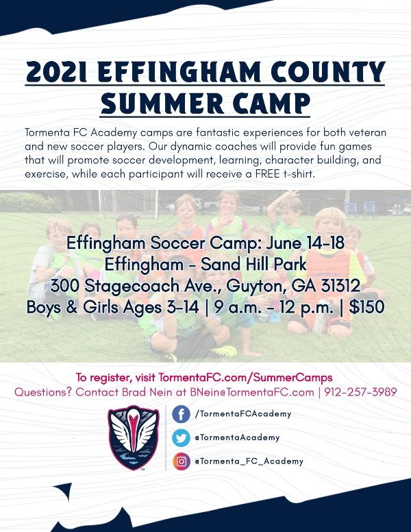 Effingham County Summer Camp 2021 Tormenta Soccer