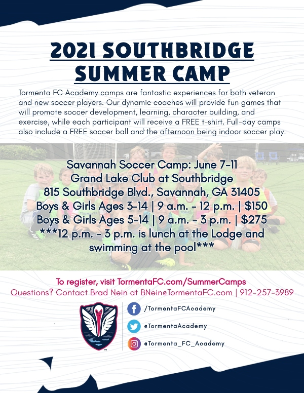 Savannah Summer Camps Soccer 2021 Tormenta