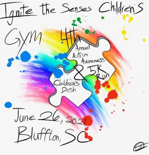 Ignite the Senses Children's Gym Autism Awareness Run Bluffton 2021