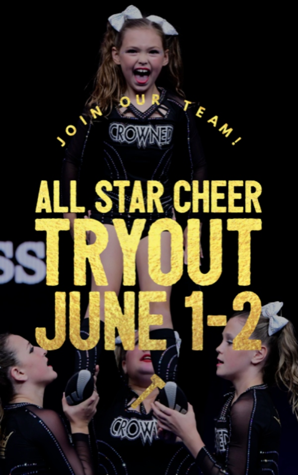 cheerleading tryouts 2021 Crowned Elite Athletics gym Savannah Chatham County