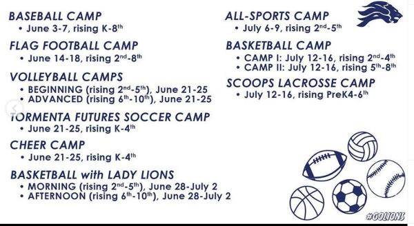 Sports summer camps Savannah Wilmington Island St. Andrew's School
