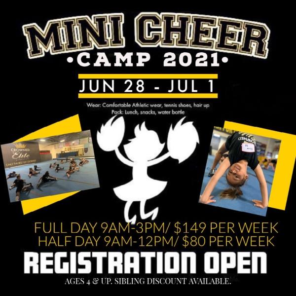 mini cheer summer camps 2021 savannah