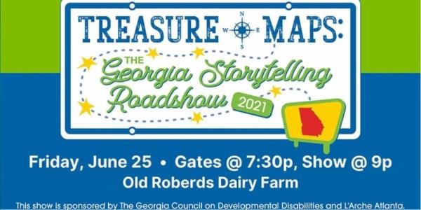 Georgia Storytelling Roadshow Free event Savannah Treasure Map