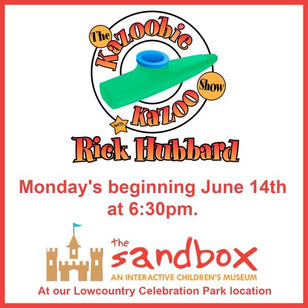 Sandbox Children's Museum free outdoor rick hubbard concerts summer 2021 lowcountry celebration park