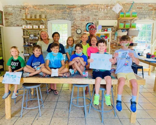 art camp summer Scribble Art studio Savannah Chatham County half-day