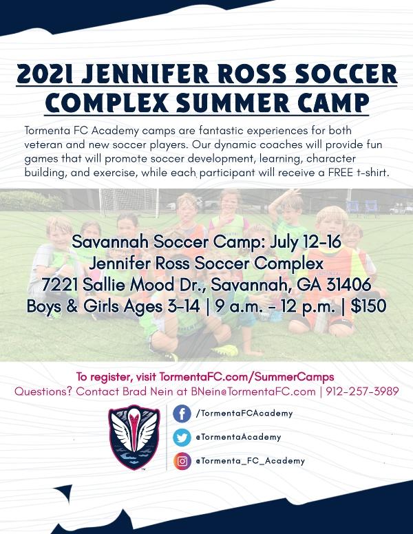 Tormenta Soccer Savannah Camps