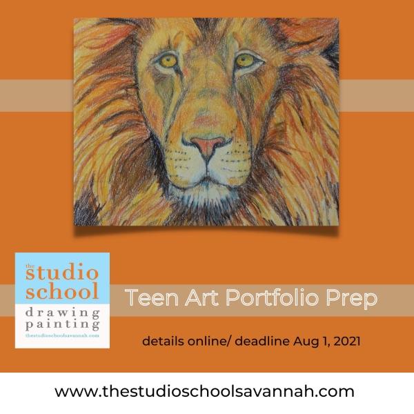 Portfolio Prep Teen Savannah Art Classses Studio School drawing painting Chatham County Ga