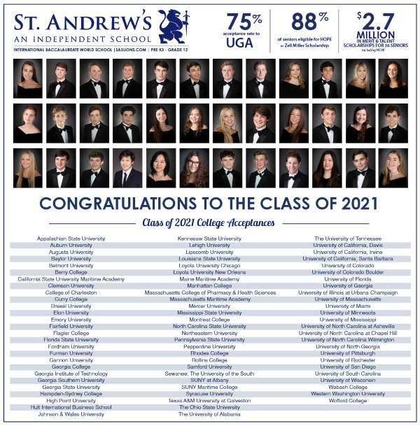 Savannah schools St. Andrew's private high schools Chatham County
