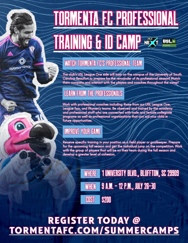 training camp Tormenta Savannah Summer 2021 bluffton