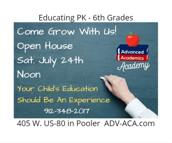 homeschool Savannah Pooler Georgia Chatham County Advanced Academics PreK kindergarten