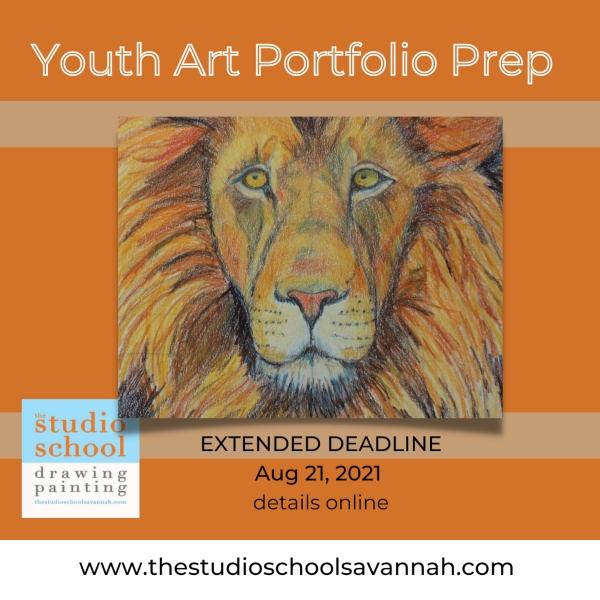 Youth art portfolio prep Studio School Savannah art classes