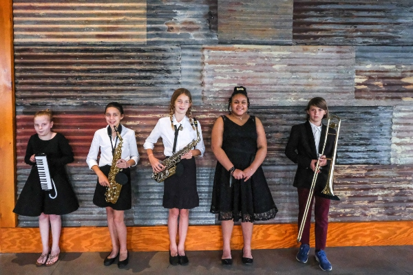 free musical instrument lessons Savannah Chatham County public schools jazz SMF musical