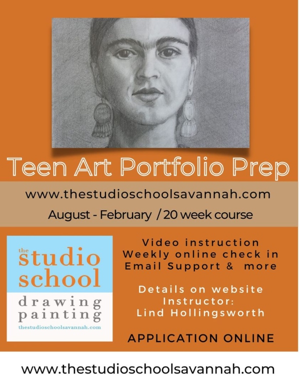 Teen Art Porfolio Prep Savannah studio school Chatham County SAA Savannah Arts Academy