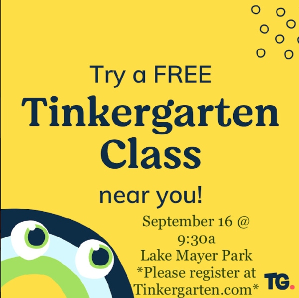 free kids events Savannah Tinkergarten Lake Mayer 2021 Chatham County