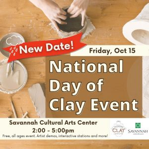 Day of Clay Savannah Cultural Arts Center October 2021 free events