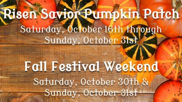 Risen Savior Pumpkin Patch Pooler 2021 Fall Festival