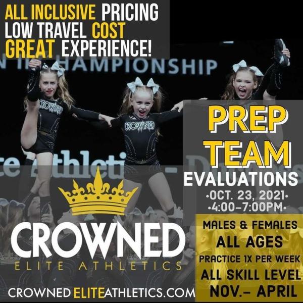 Crowned Elite Athletics cheer gymnastics Savannah Chatham County 2021 classes