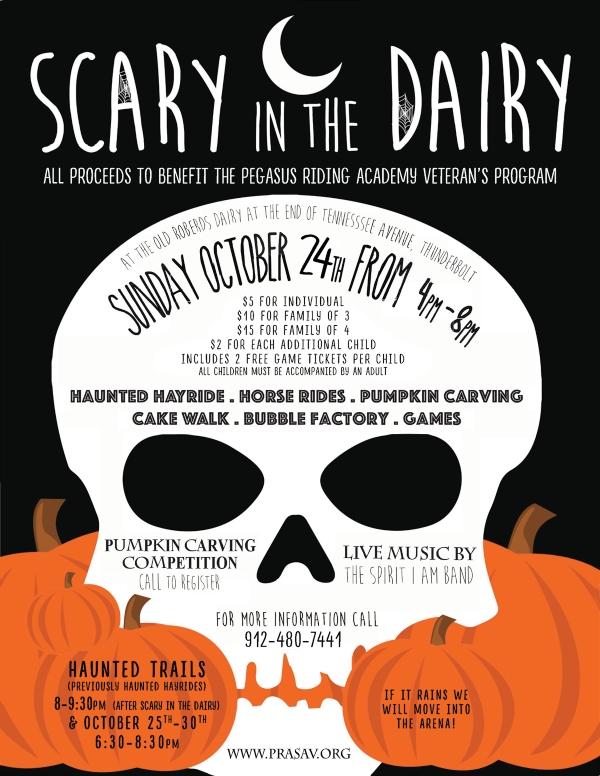 Pegasus Halloween 2021 event Scary Dairy hayrides Farm