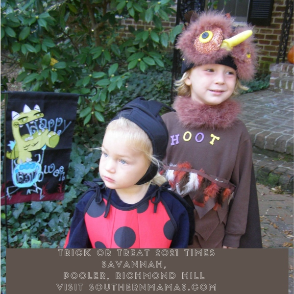 Trick or Treat times, dates day Savannah Chatham County 2021 Halloween Richmond Hill Pooler